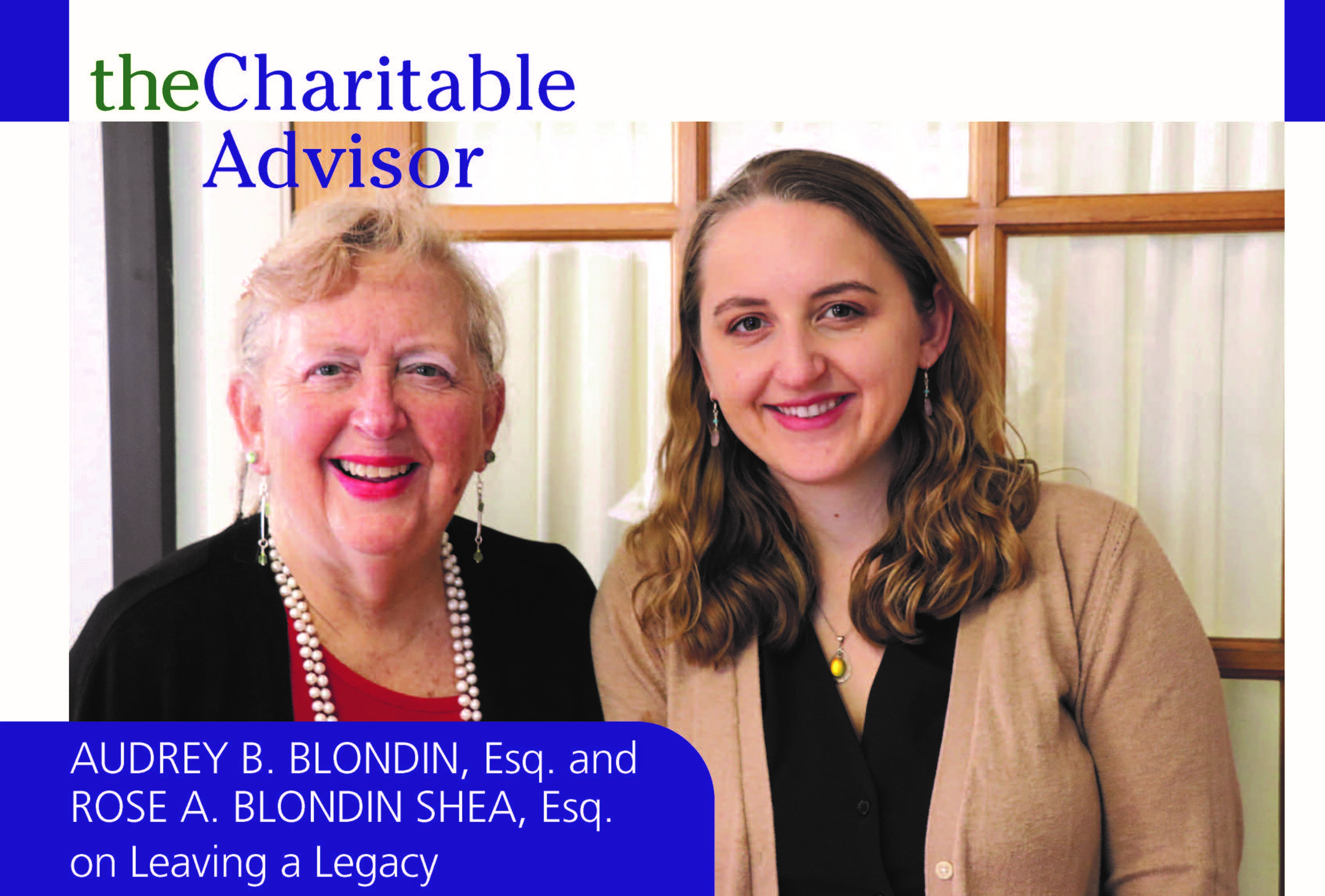 Audrey Blondin and Rose Blondin Shea stand in their office